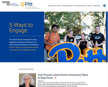 @Pitt Home Page