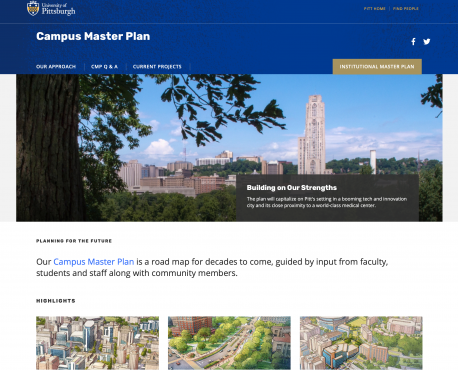 Campus Master Plan Home Page