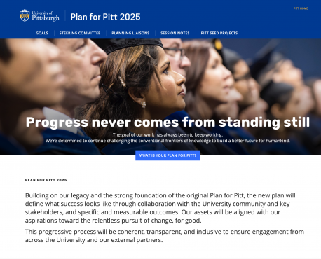 Plan for Pitt 2025 Home Page