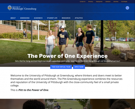 University of Pittsburgh Greensburg Home Page