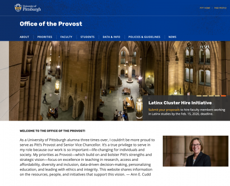Office of the Provost Home Page