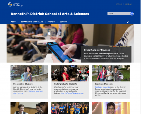 Kenneth P. Dietrich School of Arts & Sciences Home Page