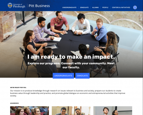 Pitt Business Home Page