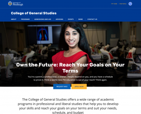 College of General Studies Home Page