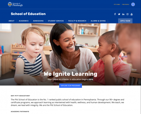 School of Education Home Page