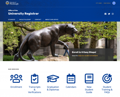 Office of the University Registrar Home Page