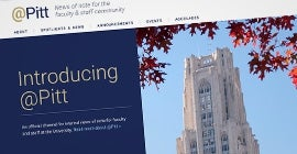 Image of @Pitt web screen view