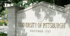 University of Pittsburgh sign
