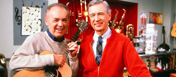 Joe Negri and Fred Rogers